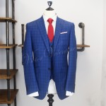 Blue gingham 3 piece suit
