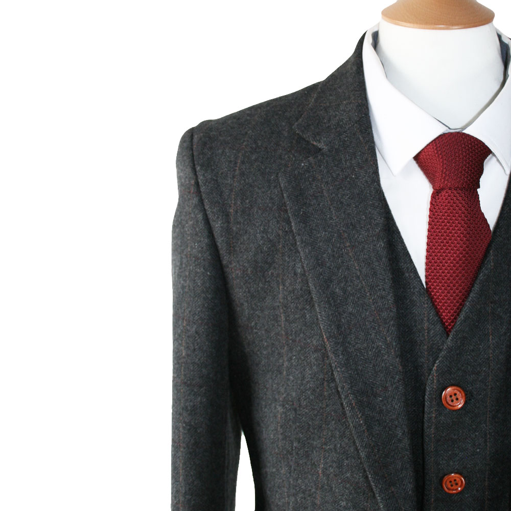 3 Piece Tweed Suit. Our main product is the three piece suit, with all aspects of jacket, waistcoat and trousers fully customisable. With over different tweeds available, we can make a unique 3 piece suit exactly to your requirements.