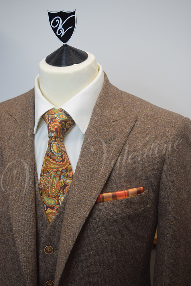 Brown Donegal Tweed 3 Piece Suit For Sale By Victor Valentine